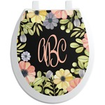 Boho Floral Toilet Seat Decal (Personalized)