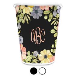 Boho Floral Waste Basket (Personalized)