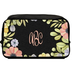 Boho Floral Toiletry Bag / Dopp Kit (Personalized)
