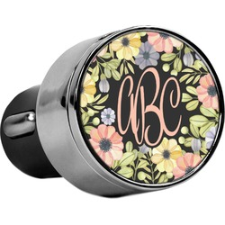 Boho Floral USB Car Charger (Personalized)