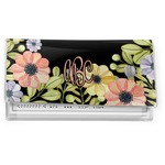 Boho Floral  Vinyl Check Book Cover (Personalized)