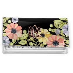 Boho Floral Vinyl Checkbook Cover (Personalized)