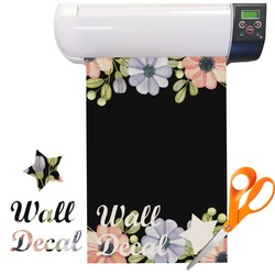 Boho Floral  Vinyl Sheet (Re-position-able)