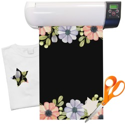 "Boho Floral Heat Transfer Vinyl Sheet (12""x18"")"