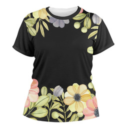 Boho Floral  Women's Crew T-Shirt (Personalized)