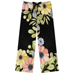 Boho Floral Womens Pajama Pants - XL (Personalized)
