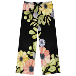 Boho Floral Womens Pajama Pants - XL (Personalized)
