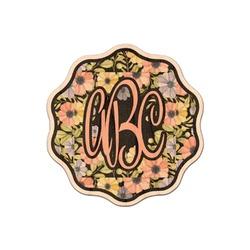 Boho Floral  Genuine Wood Sticker (Personalized)