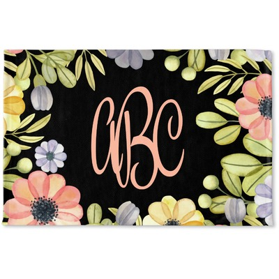 Boho Floral Woven Mat (Personalized)