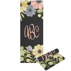 Boho Floral Yoga Mat - Printable Front and Back (Personalized)