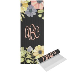 Boho Floral Yoga Mat - Printed Front (Personalized)