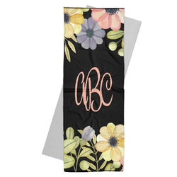 Boho Floral Yoga Mat Towel (Personalized)