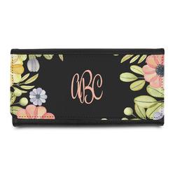 Boho Floral Leatherette Ladies Wallet (Personalized)