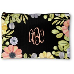 Boho Floral Zipper Pouch (Personalized)