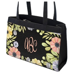Boho Floral Zippered Everyday Tote (Personalized)