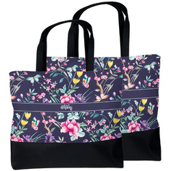 Chinoiserie Beach Tote Bag (Personalized)