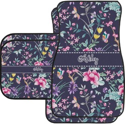 Chinoiserie Car Floor Mats Set - 2 Front & 2 Back (Personalized)