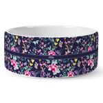 Chinoiserie Ceramic Dog Bowl (Personalized)