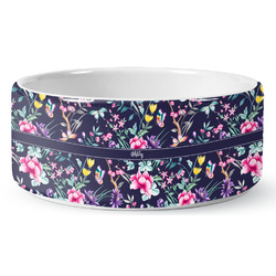 Chinoiserie Ceramic Pet Bowl (Personalized)