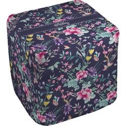 Chinoiserie Cube Pouf Ottoman (Personalized)