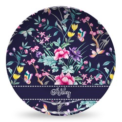 Chinoiserie Microwave Safe Plastic Plate - Composite Polymer (Personalized)
