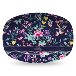 Chinoiserie Plastic Platter - Microwave & Oven Safe Composite Polymer (Personalized)