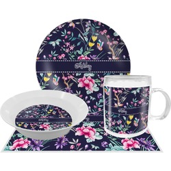 Chinoiserie Dinner Set - Single 4 Pc Setting w/ Name or Text