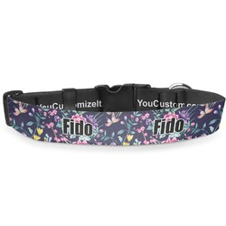 "Chinoiserie Deluxe Dog Collar - Large (13"" to 21"") (Personalized)"