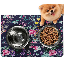 Chinoiserie Dog Food Mat - Small w/ Name or Text