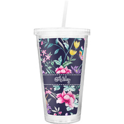 Chinoiserie Double Wall Tumbler with Straw (Personalized)