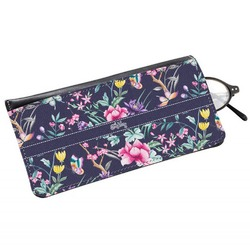 Chinoiserie Genuine Leather Eyeglass Case (Personalized)