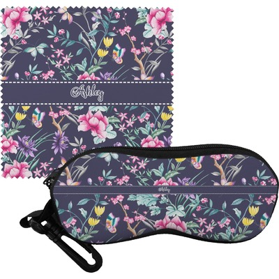 Chinoiserie Eyeglass Case & Cloth (Personalized)