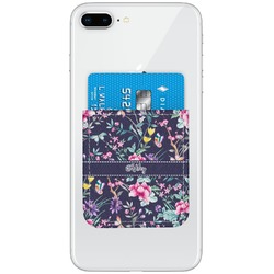 Chinoiserie Genuine Leather Adhesive Phone Wallet (Personalized)