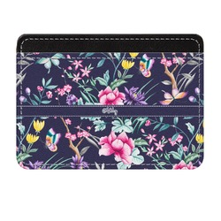 Chinoiserie Genuine Leather Front Pocket Wallet (Personalized)