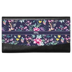 Chinoiserie Genuine Leather Ladies Wallet (Personalized)