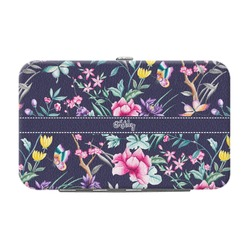 Chinoiserie Genuine Leather Small Framed Wallet (Personalized)