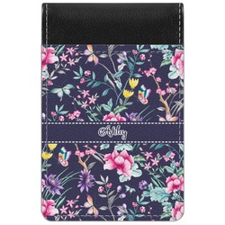 Chinoiserie Genuine Leather Small Memo Pad (Personalized)