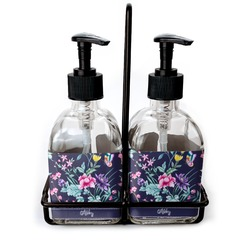 Chinoiserie Soap & Lotion Dispenser Set (Glass) (Personalized)
