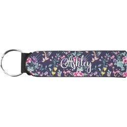 Chinoiserie Neoprene Keychain Fob (Personalized)