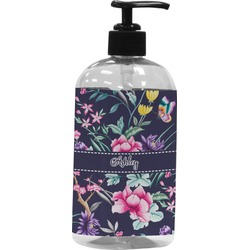 Chinoiserie Plastic Soap / Lotion Dispenser (16 oz - Large) (Personalized)