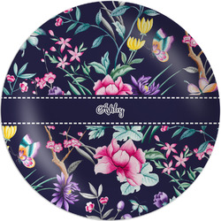 """Chinoiserie Melamine Plate - 8"""" (Personalized)"""