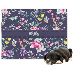Chinoiserie Minky Dog Blanket - Large  (Personalized)