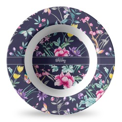 Chinoiserie Plastic Bowl - Microwave Safe - Composite Polymer (Personalized)