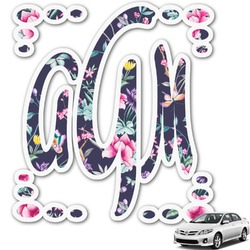 Chinoiserie Monogram Car Decal (Personalized)