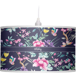 Chinoiserie Drum Pendant Lamp (Personalized)