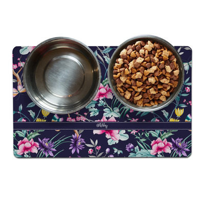 Chinoiserie Dog Food Mat (Personalized)