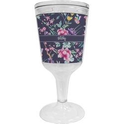 Chinoiserie Wine Tumbler - 11 oz Plastic (Personalized)