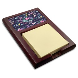 Chinoiserie Red Mahogany Sticky Note Holder (Personalized)