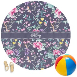 Chinoiserie Round Beach Towel (Personalized)