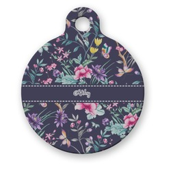 Chinoiserie Round Pet ID Tag (Personalized)